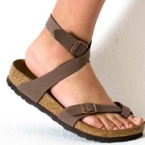 Birkenstock Yara Sandals in Mocha, 37 (L6)